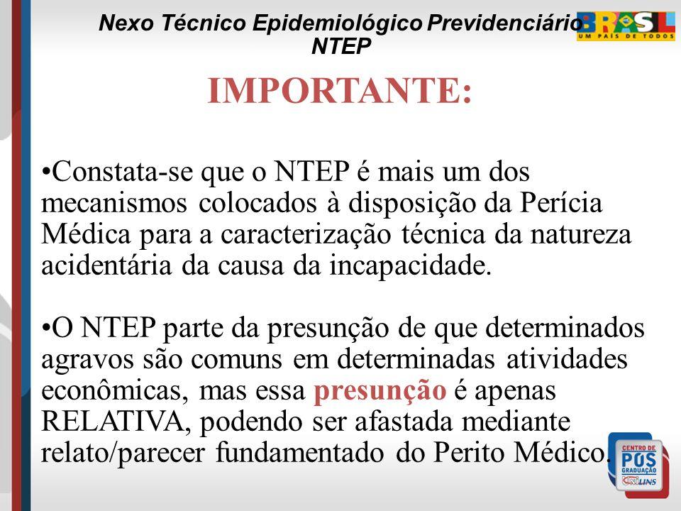 Nexo Técnico Epidemiológico Previdenciário Defesa da Empresa CONTESTAÇÃO PATRONAL A existência ou não de riscos ambientais em níveis ou concentrações