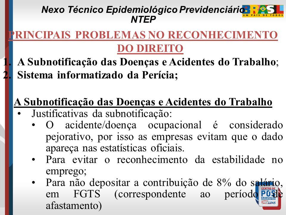 A CONCEPÇÃO DO NTEP ANTES DO NTEP (Ambos vinculados a emissão da CAT): 1.Nexo Técnico Profissional ou do Trabalho; 2.Nexo Técnico Individual. APÓS NTE
