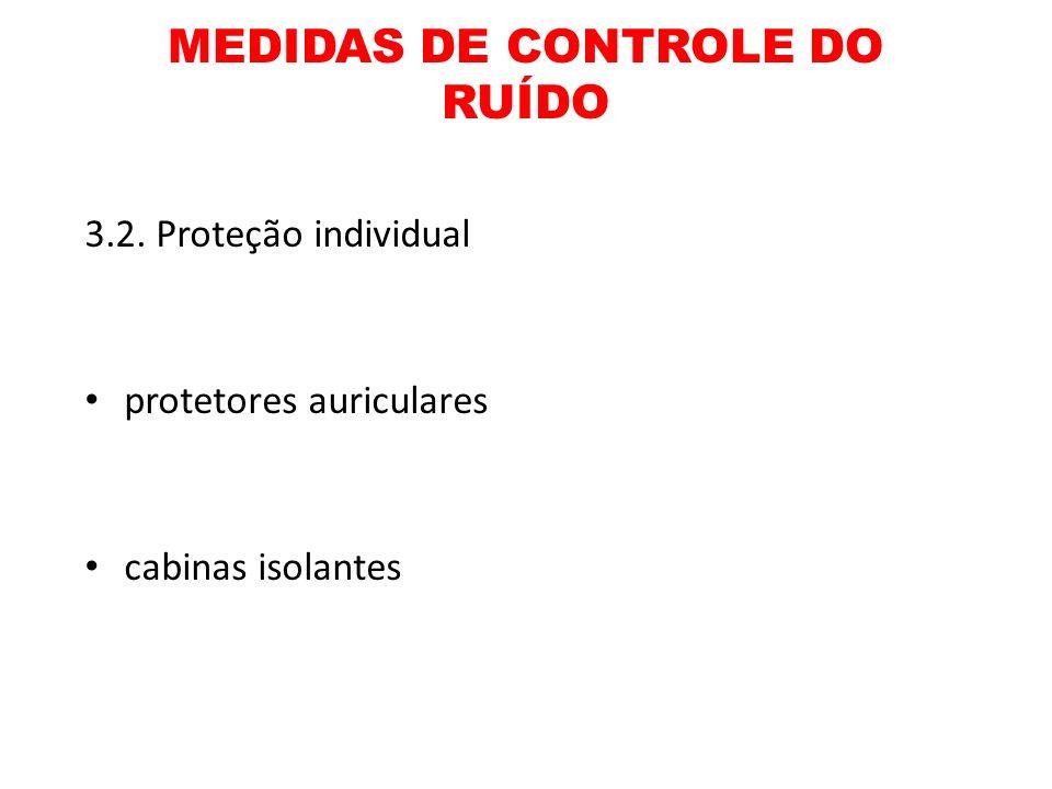 MEDIDAS DE CONTROLE DO RUÍDO 3.2. Proteção individual protetores auriculares cabinas isolantes