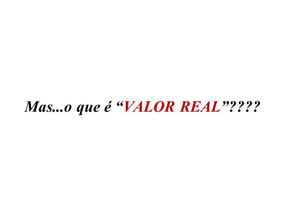 Mas...o que é VALOR REAL????