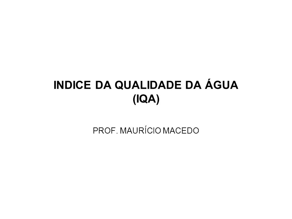 EXEMPLO – INDICE O.D.Dados: O.D.