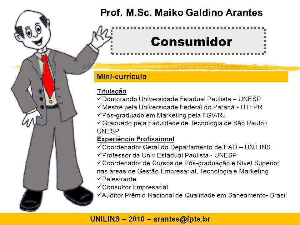Análise dos mercados consumidores e comportamento do comprador Marketing Prof.