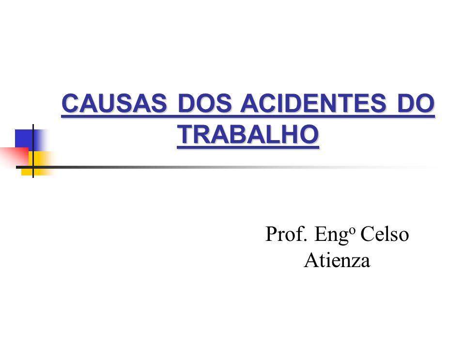 CAUSAS DOS ACIDENTES DO TRABALHO Prof. Eng o Celso Atienza