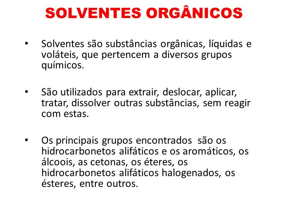 SOLVENTES CLORADOS Solventes clorados – É um grupo grande de substâncias, muito usadas tanto em indústrias quanto em laboratórios.