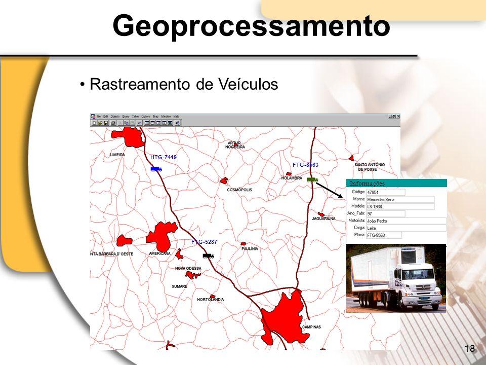 Geoprocessamento FTG-8563 Informações FTG-5287 HTG-7419 FTG- 8736 Rastreamento de Veículos 18