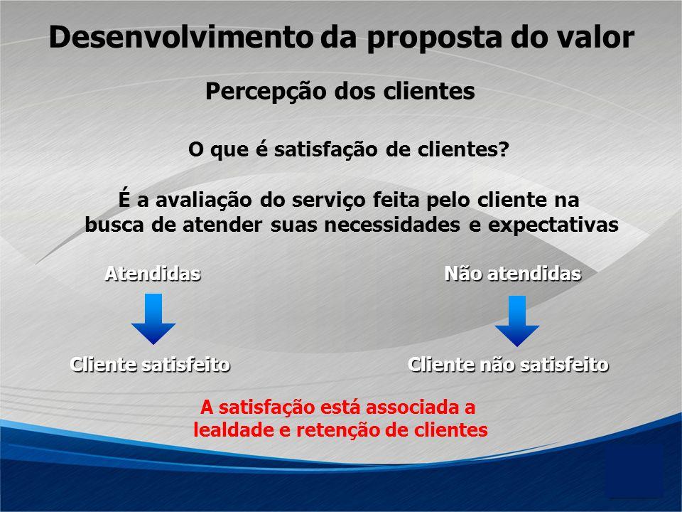 O que é satisfação de clientes? É a avaliação do serviço feita pelo cliente na busca de atender suas necessidades e expectativas AtendidasNão atendida