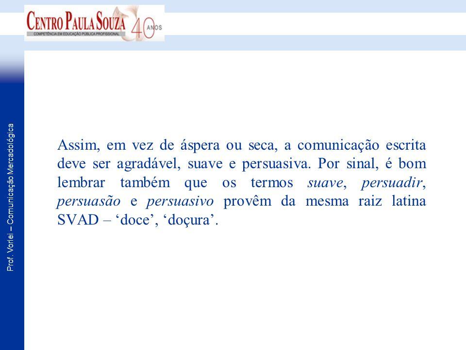 Prof.Vorlei – Comunicação Mercadológica Comunicação escrita eficaz Produzir resposta.