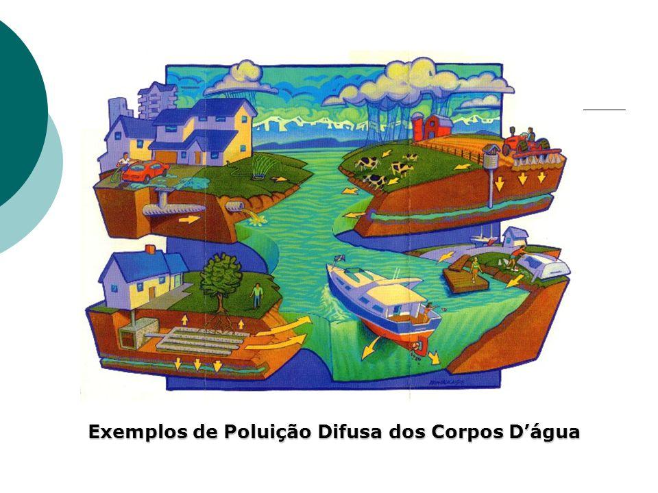 Exemplos de Poluição Difusa dos Corpos Dágua