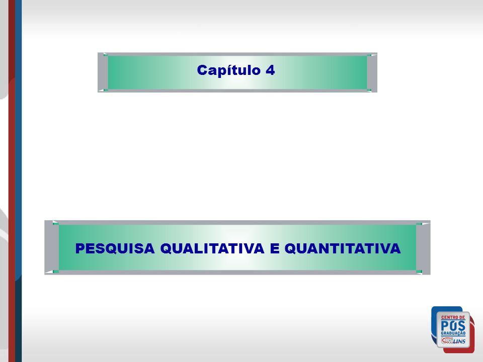 PESQUISA QUALITATIVA E QUANTITATIVA Capítulo 4