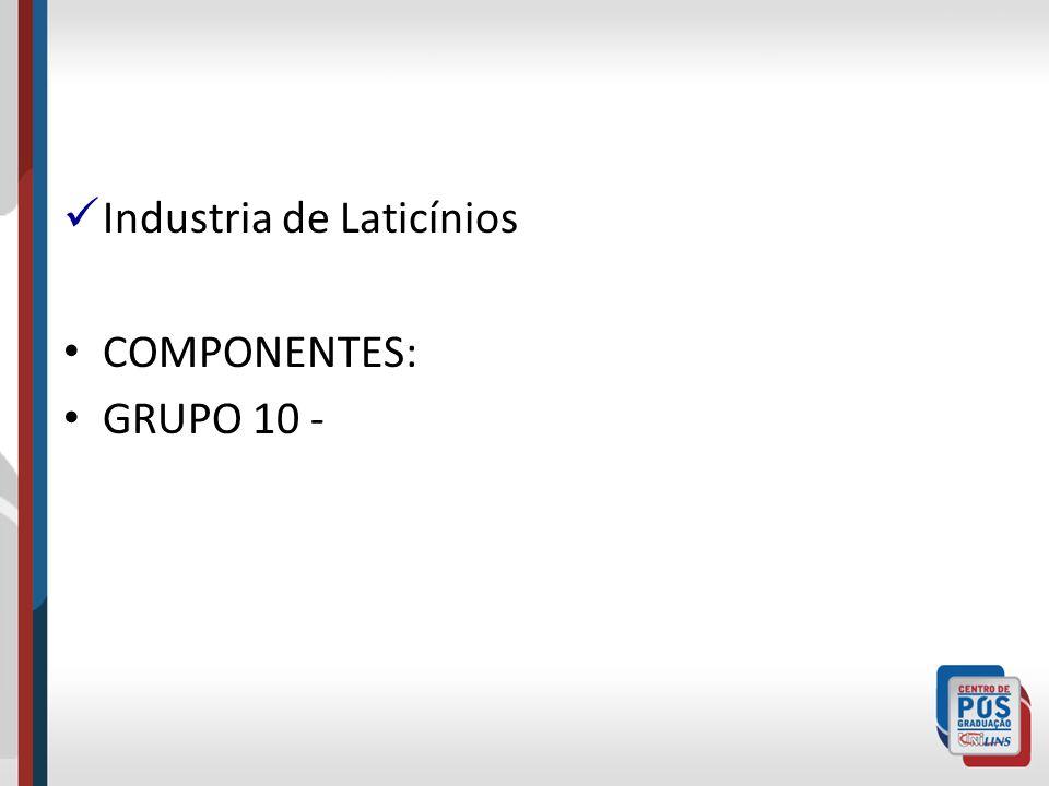 Industria de Laticínios COMPONENTES: GRUPO 10 -