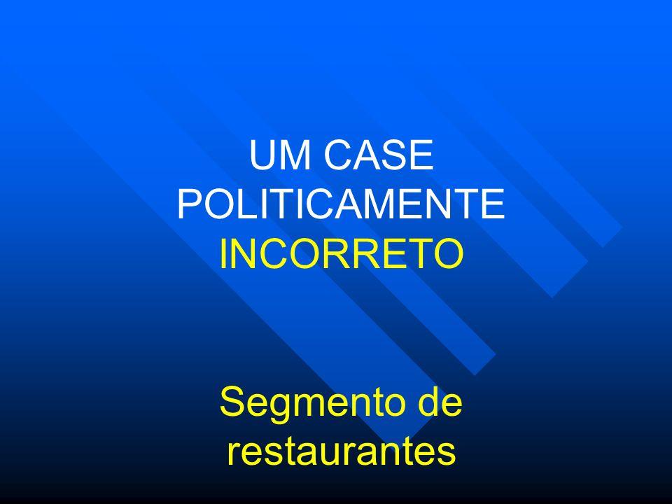 UM CASE POLITICAMENTE INCORRETO Segmento de restaurantes