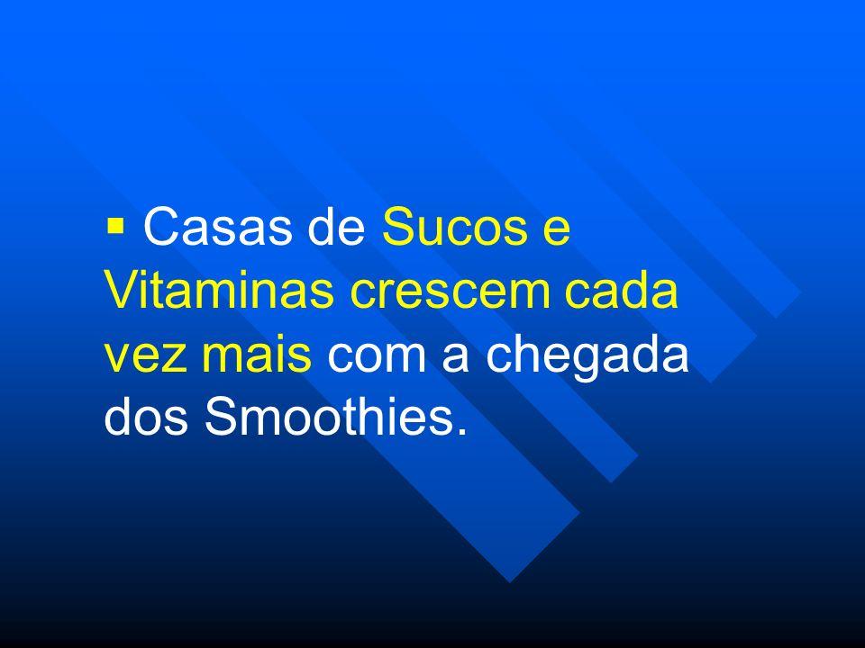 Casas de Sucos e Vitaminas crescem cada vez mais com a chegada dos Smoothies.