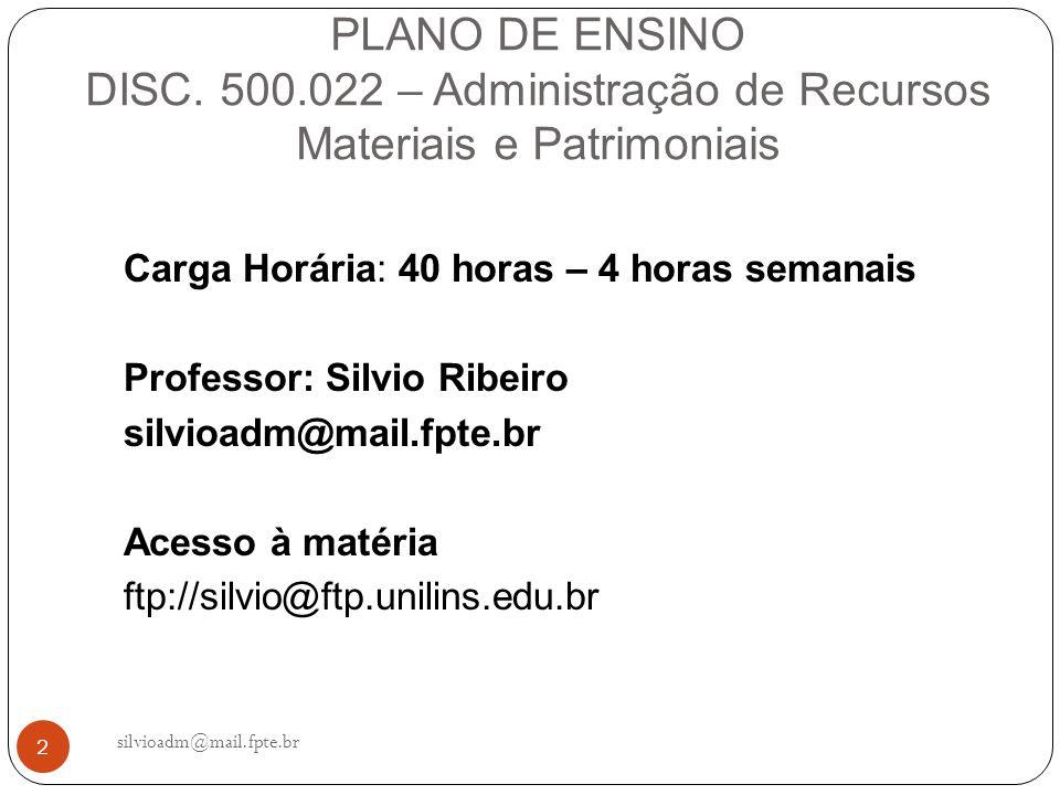 23 silvioadm@mail.fpte.br