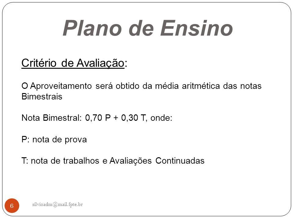 27 silvioadm@mail.fpte.br