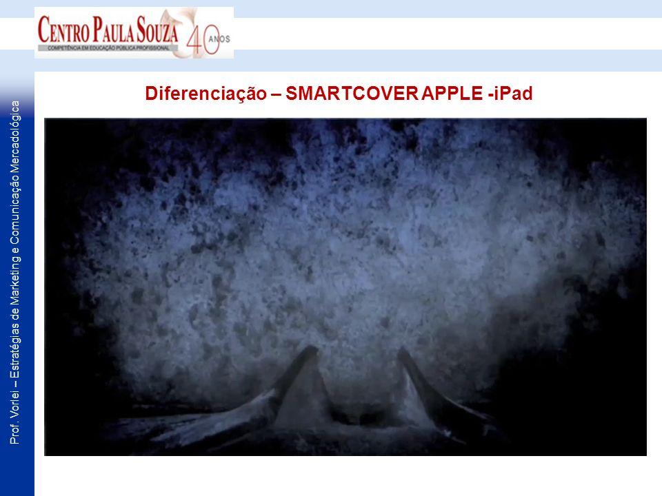 Prof. Vorlei – Estratégias de Marketing e Comunicação Mercadológica Diferenciação – SMARTCOVER APPLE -iPad