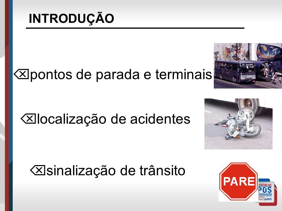 INTRODUÇÃO Os sistemas de TT&L têm ligação direta com o referenciamento espacial: local de entrega de mercadoria semáforo rotas de ônibus ou metrô