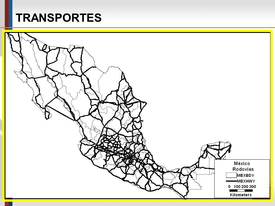 TRANSPORTES Nos EUA as bases de dados TIGER/Line Files produzidas pelo Census Tract, usadas pelo U.S.DOT, têm extensões compatíveis com a maioria dos SIG-T, inclusive bases de dados incluindo o México e o Canadá.