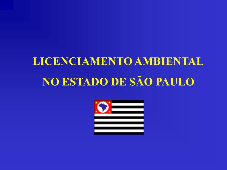 LICENCIAMENTO AMBIENTAL NO ESTADO DE SÃO PAULO