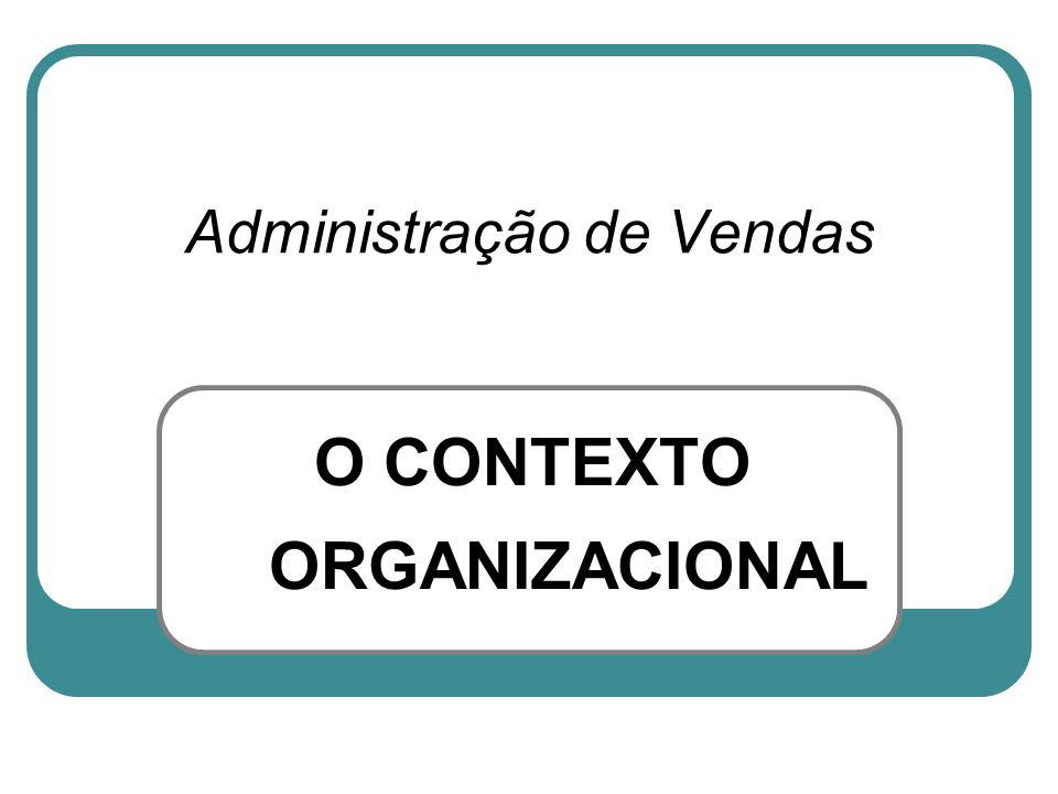 O CONTEXTO ORGANIZACIONAL Administração de Vendas