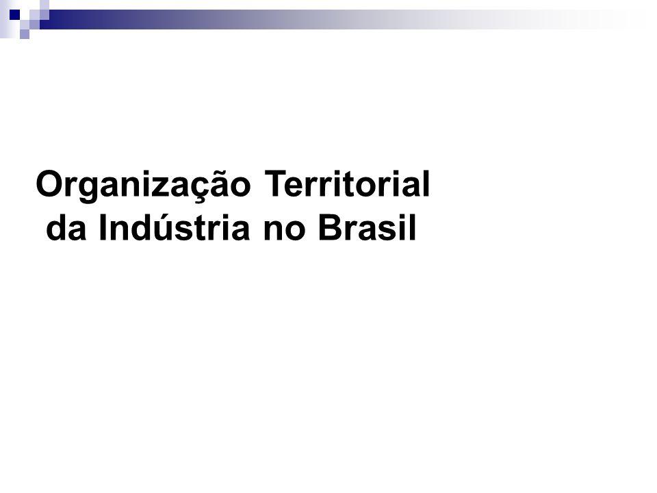 Organização Territorial da Indústria no Brasil