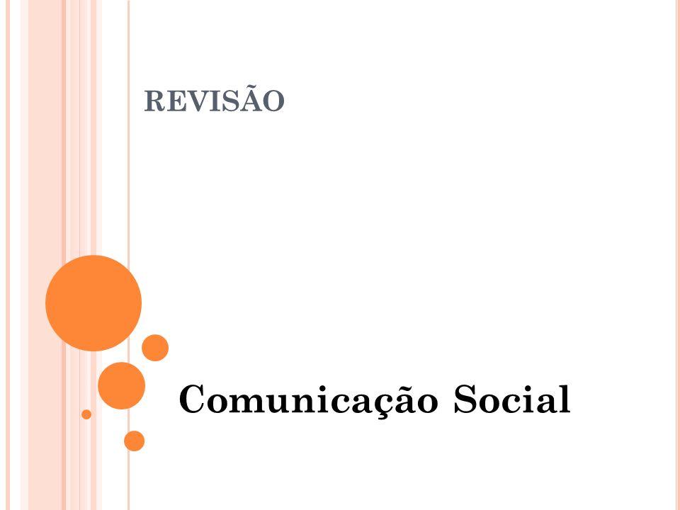 PROCESSO DE COMUNICAÇÃO Consiste na transmissão de idéias, signos através de um canal, utilizando-se de um código.