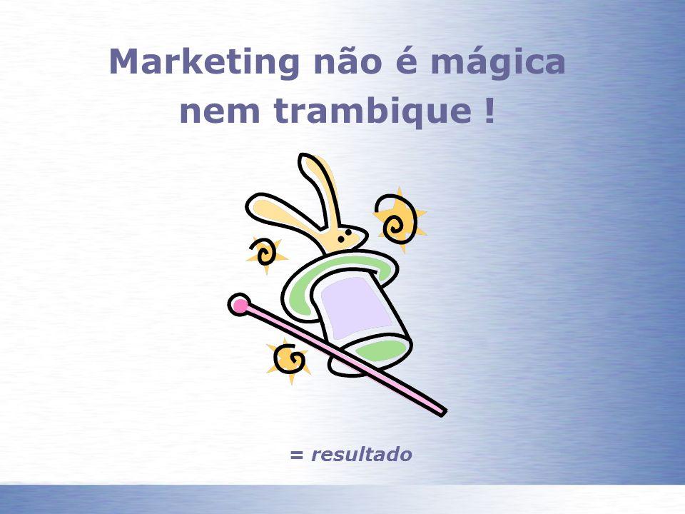 Marketing não é mágica nem trambique ! = resultado