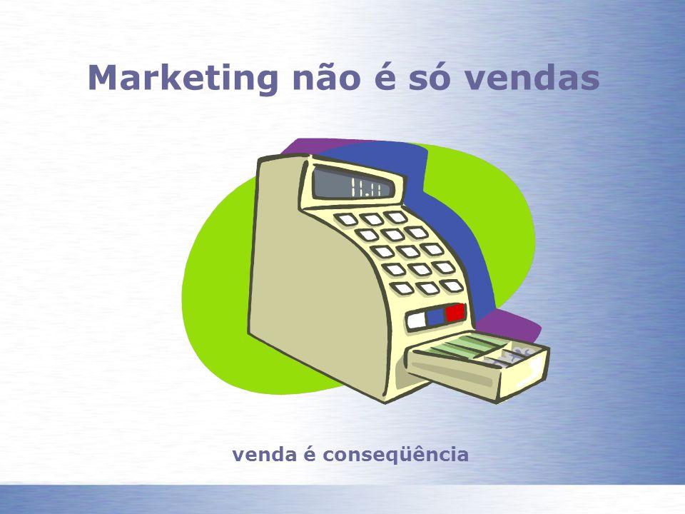 Marketing não é só vendas venda é conseqüência