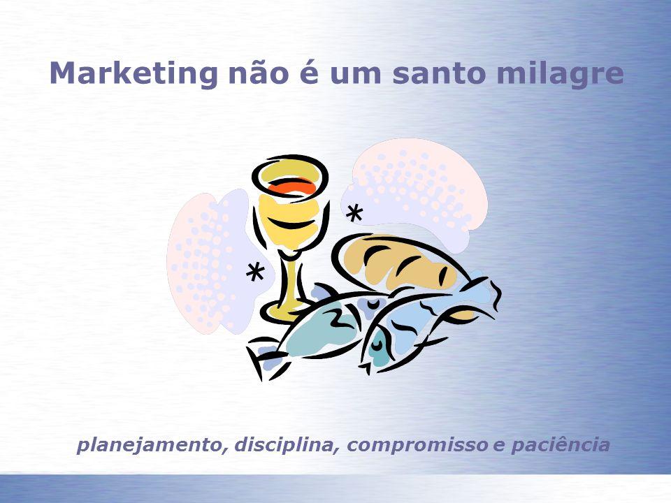 Marketing não é um santo milagre planejamento, disciplina, compromisso e paciência