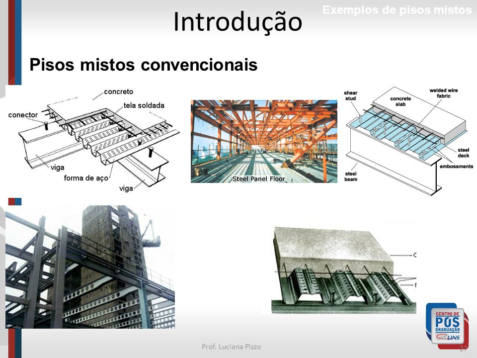 27 Prof. Luciana Pizzo Introdução Exemplos de pisos mistos Pisos mistos convencionais