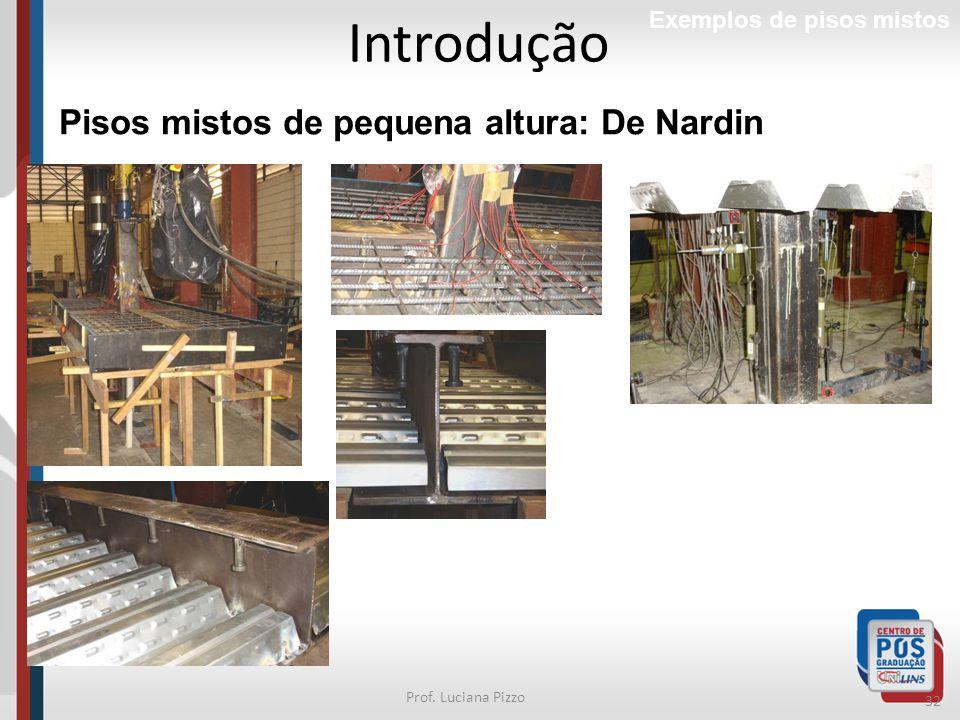 32 Prof. Luciana Pizzo Introdução Exemplos de pisos mistos Pisos mistos de pequena altura: De Nardin