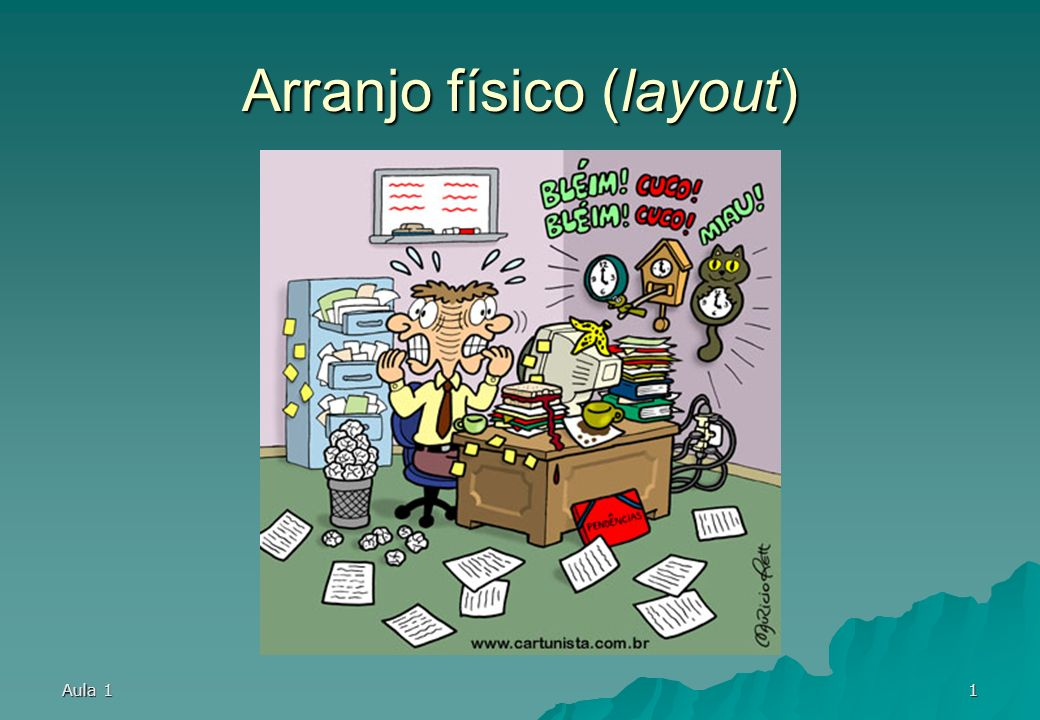 Aula 131 Exemplos de arranjo físico (mesas) (ARAUJO, LUIS C. G. - 2001)