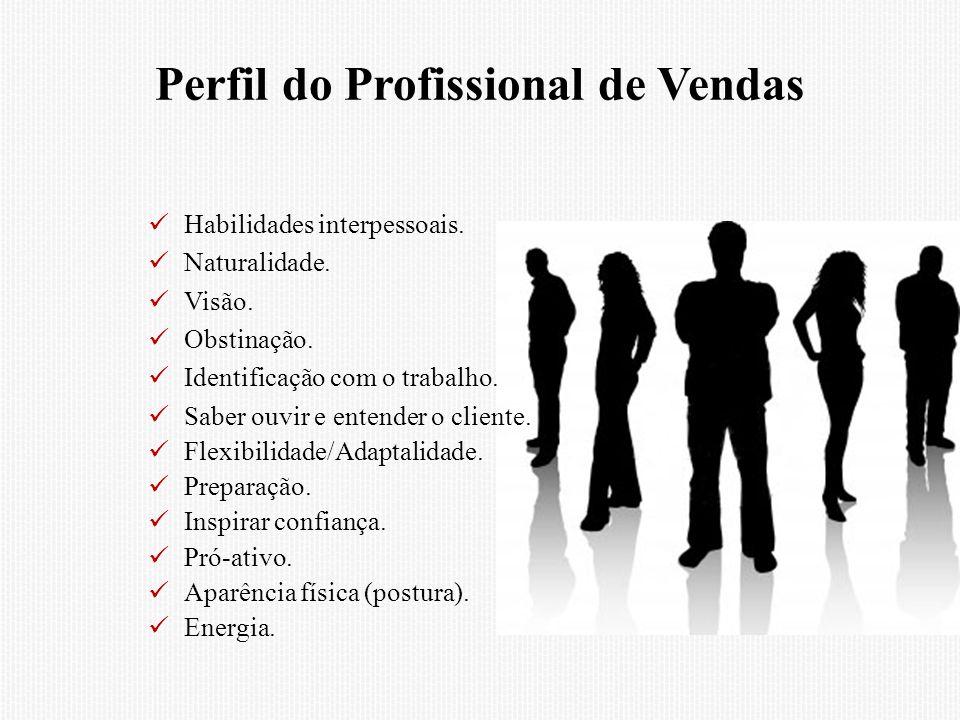 Perfil do Profissional de Vendas Habilidades interpessoais.