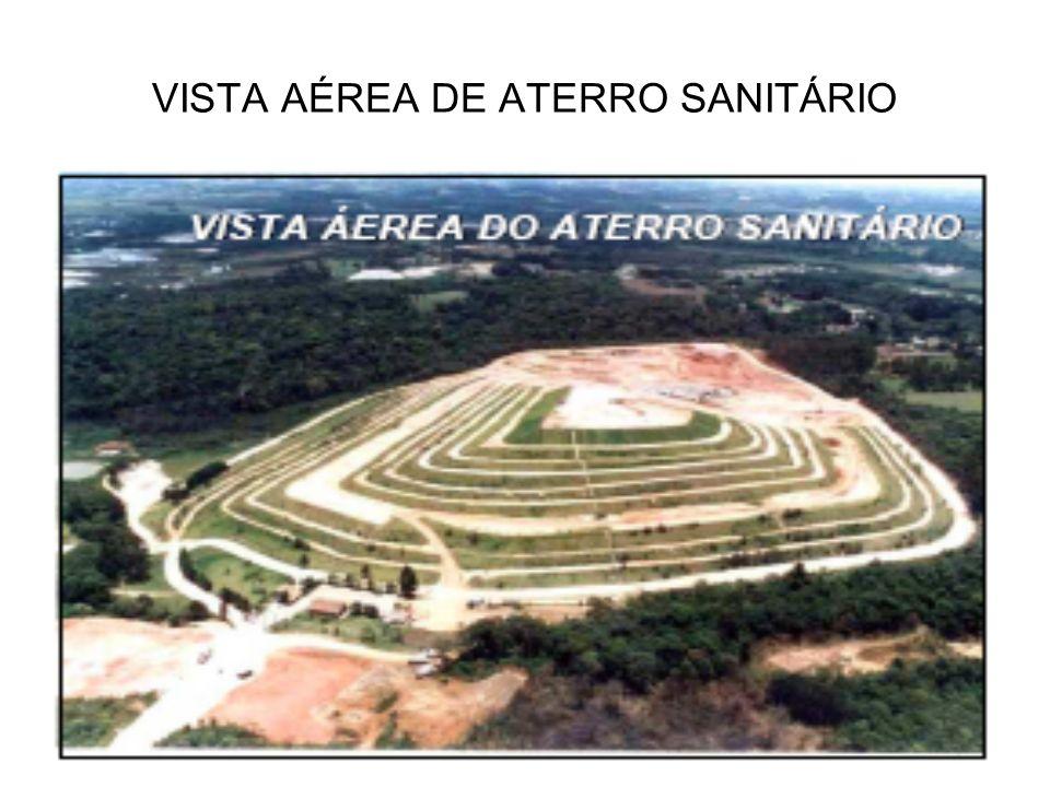 VISTA AÉREA DE ATERRO SANITÁRIO