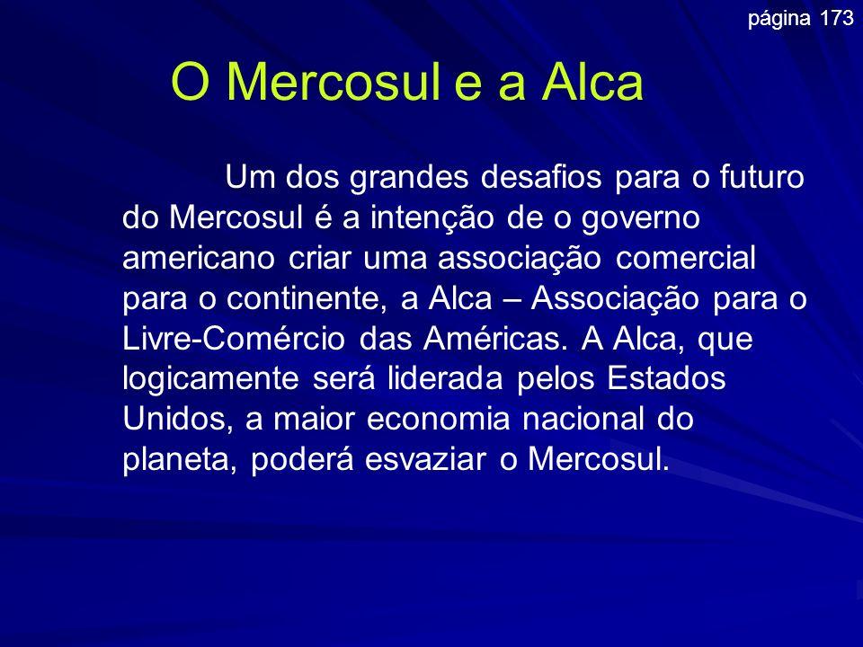Um dos grandes desafios para o futuro do Mercosul é a intenção de o governo americano criar uma associação comercial para o continente, a Alca – Assoc