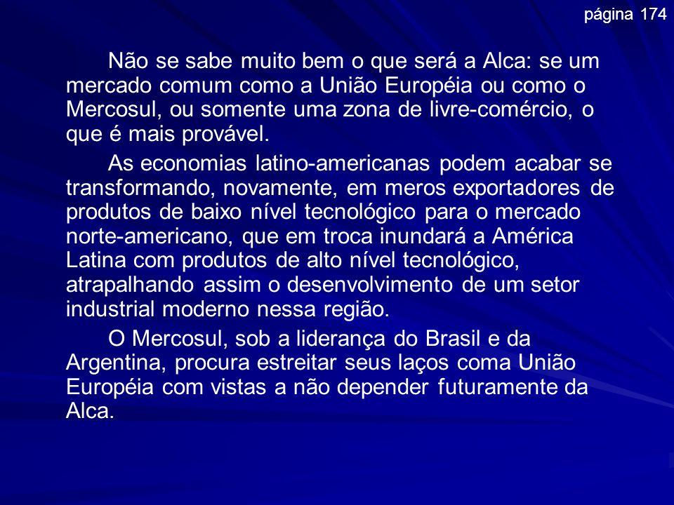 Não se sabe muito bem o que será a Alca: se um mercado comum como a União Européia ou como o Mercosul, ou somente uma zona de livre-comércio, o que é