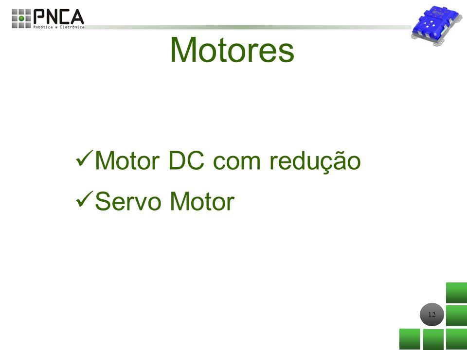 12 Motores Motor DC com redução Servo Motor