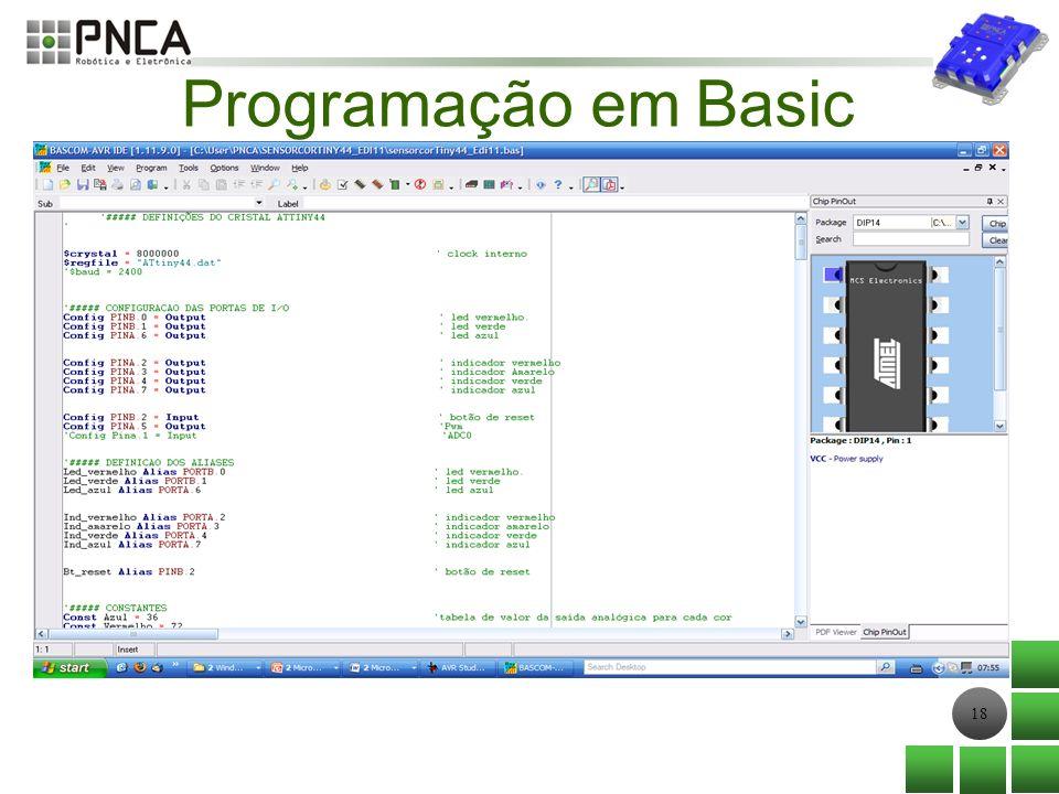 18 Programação em Basic
