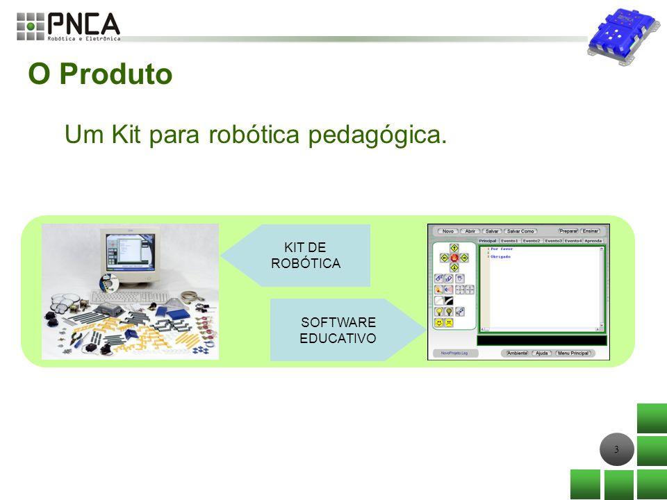 3 O Produto Um Kit para robótica pedagógica. SOFTWARE EDUCATIVO KIT DE ROBÓTICA