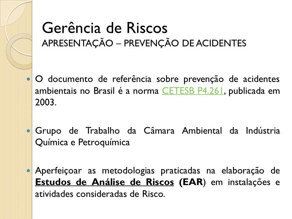 Norma CETESB P4.261 Manual de Orientação para a Elaboração de Estudos de Análise de Riscos
