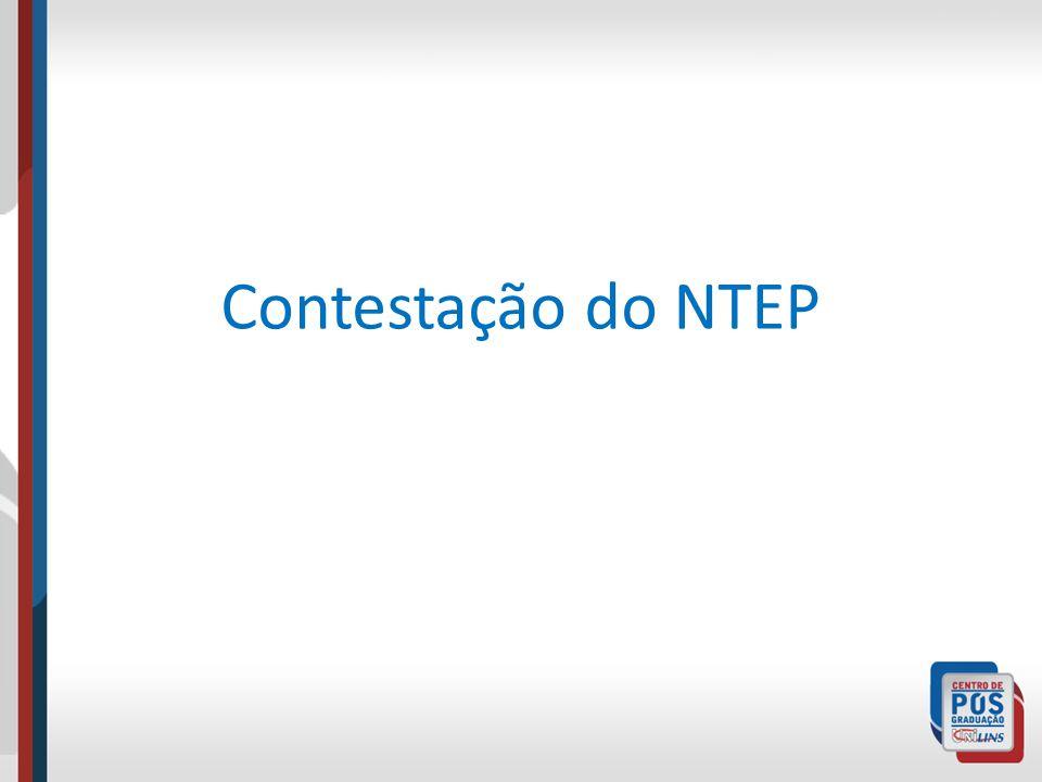 Contestação do NTEP
