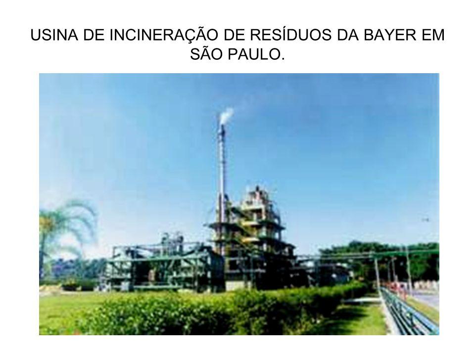 USINA DE INCINERAÇÃO DE RESÍDUOS DA BAYER EM SÃO PAULO.