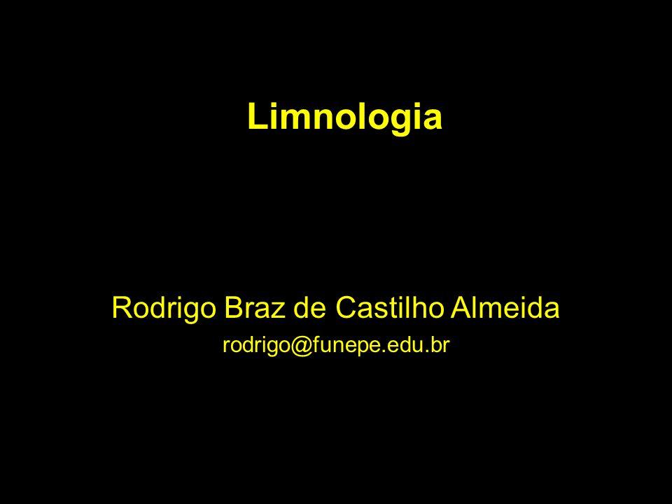 Limnologia Rodrigo Braz de Castilho Almeida rodrigo@funepe.edu.br