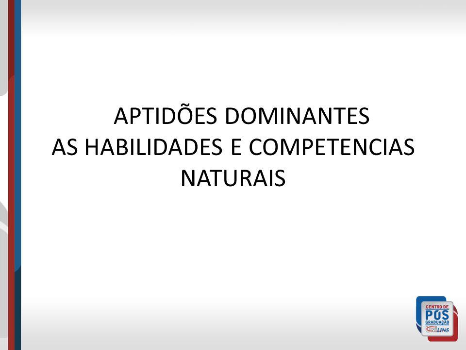 APTIDÕES DOMINANTES AS HABILIDADES E COMPETENCIAS NATURAIS