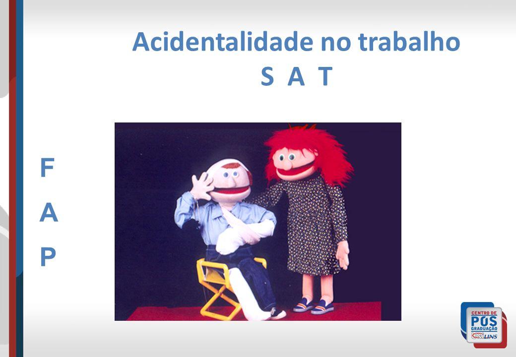 Acidentalidade no trabalho S A T FAPFAP