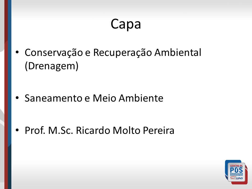 Capa Conservação e Recuperação Ambiental (Drenagem) Saneamento e Meio Ambiente Prof. M.Sc. Ricardo Molto Pereira