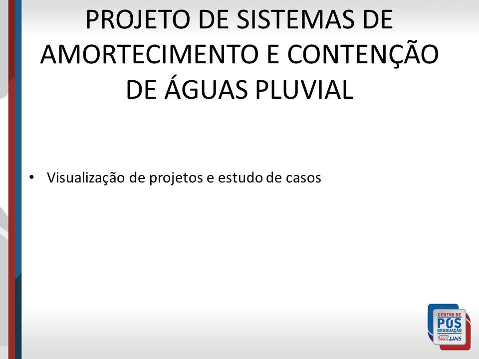 PROJETO DE SISTEMAS DE AMORTECIMENTO E CONTENÇÃO DE ÁGUAS PLUVIAL Visualização de projetos e estudo de casos