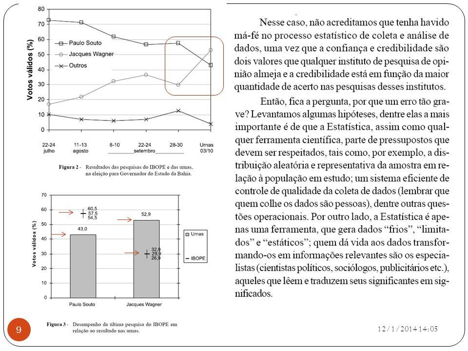 12/1/2014 14:07 40 Podemos, então, apresentar a seguir estes dados em uma distribuição de freqüências.