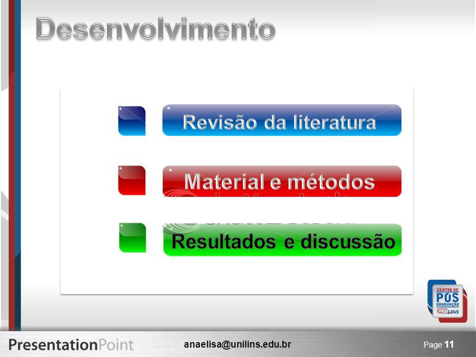 anaelisa@unilins.edu.br Page 11