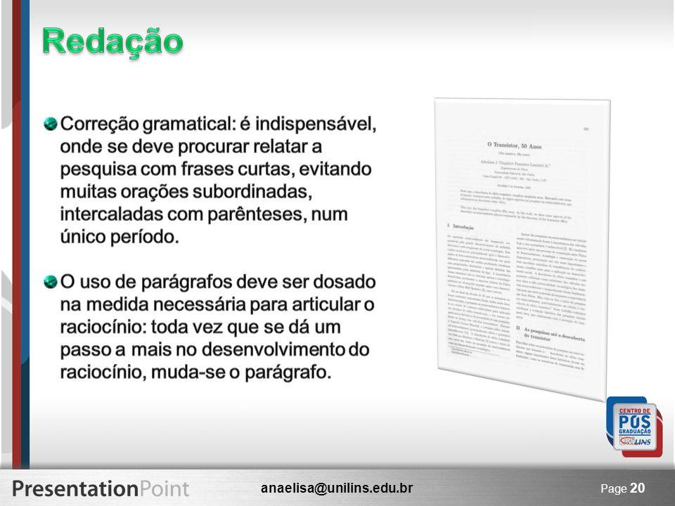 anaelisa@unilins.edu.br Page 20