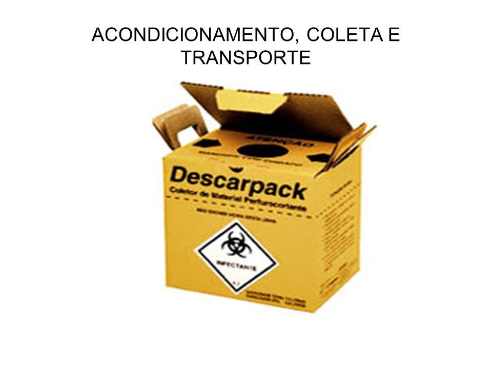 ACONDICIONAMENTO, COLETA E TRANSPORTE